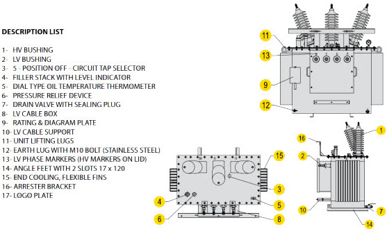 pole mounted transformer 557px Technical Drawings